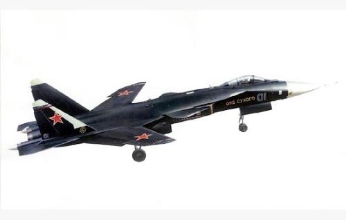 前掠翼气动布局机型——俄罗斯s37金雕