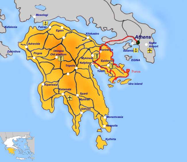 小游伯罗奔尼撒半岛(一)-雅典到半岛沿途美景