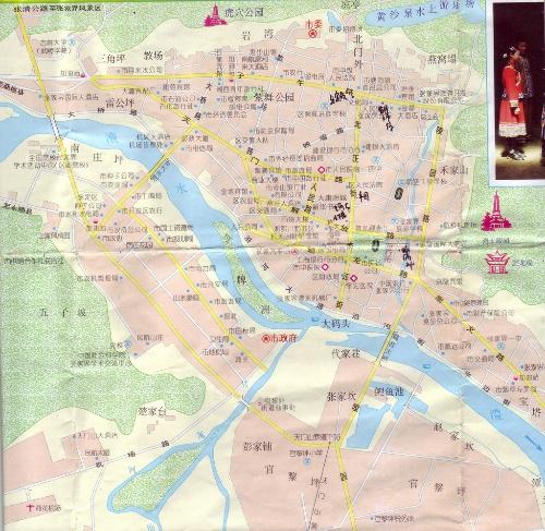 湘西地图如下:             张家界是比较新的地级市,下辖2