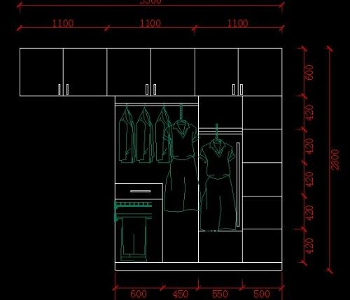 衣柜内部结构 设计图-看看我的新家厨房设计图