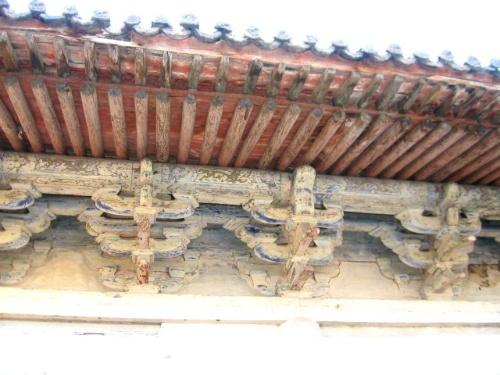 寺庙古建筑 结构 设计图三义庙