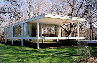 密斯·凡德罗---玻璃屋图片