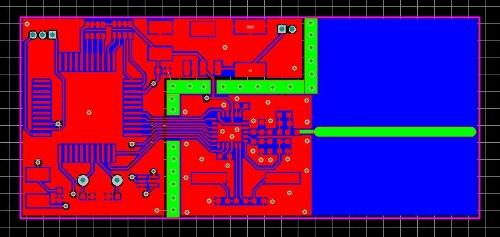 由于fr4介电常数和电路板加工的离散性等因素,在设计pcb时,天线长度选