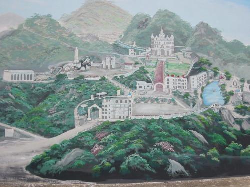 玫瑰山庄座落于距福州市区三十五公里的长乐县龙田镇,从市区经过大约