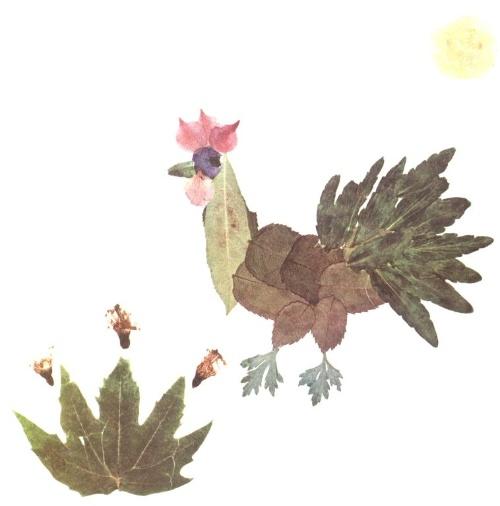 用叶子做的动物