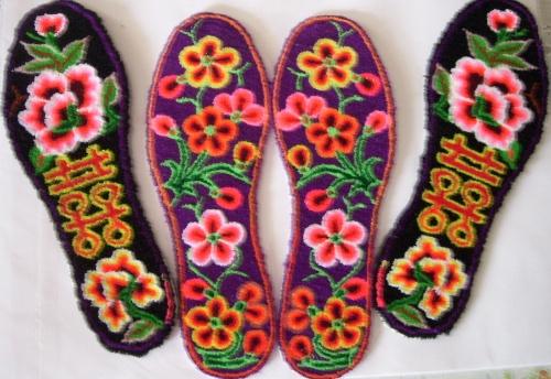 鞋垫动物格子花样图