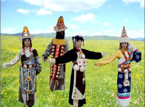 嘉绒藏族服饰 安多藏族服饰