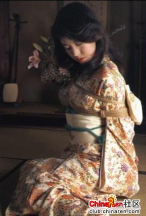 小日本捆绑美女 是艺术还是变态组图
