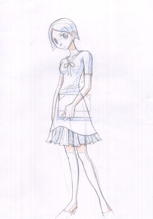 简单美少女图画】卡通美少女图画,可爱动漫美少女 .