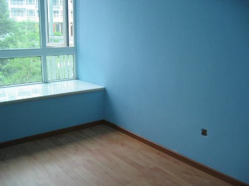 藍色墻漆客廳效果圖