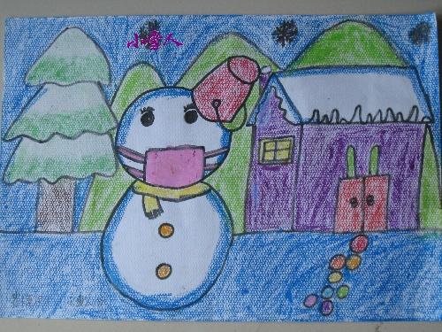 最后这张小雪人是换了一家学校学滴
