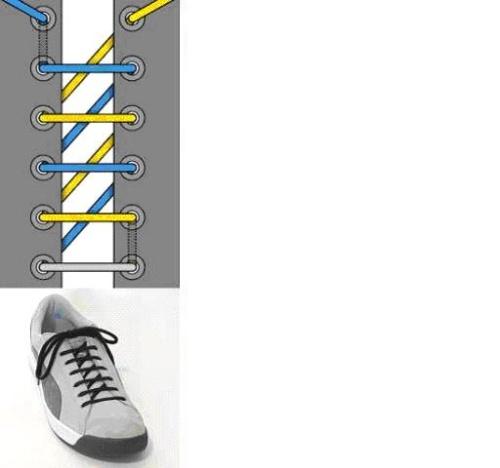 zz花式鞋带系法,一眼学会[图]