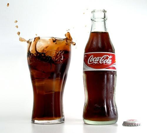 玻璃瓶的可口可乐