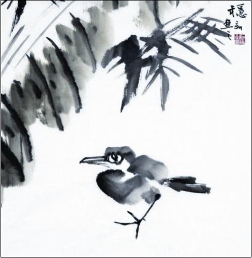 [国画]芭蕉树下-书画博客-搜狐博客