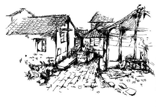 碳笔——风景画